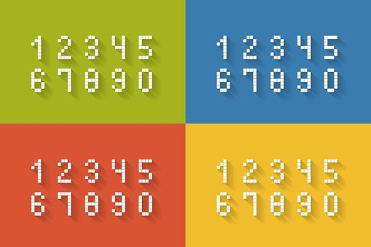 Set of flat pixel numbers