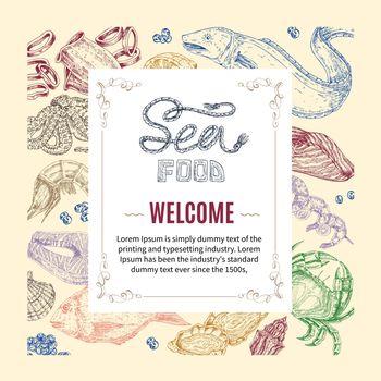 Seafood Hand Drawn Invitation