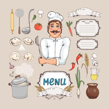 Menu for russian cuisine