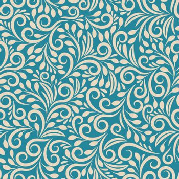 Seamless floral pattern on uniform background