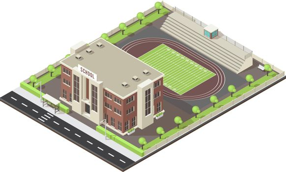 School Isometric Layout