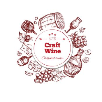 Red Wine Craft Production Concept