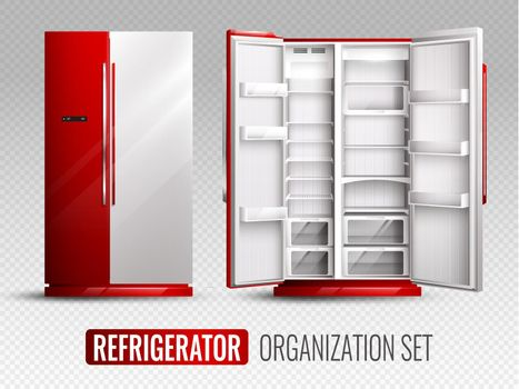 Refrigerator Organization On Transparent Background