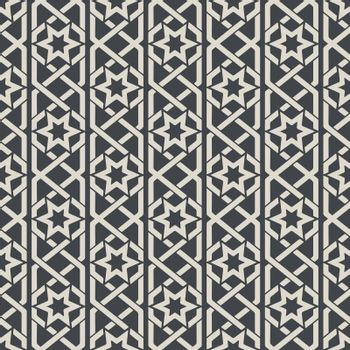 Seamless abstract ornamental pattern in Arabic style