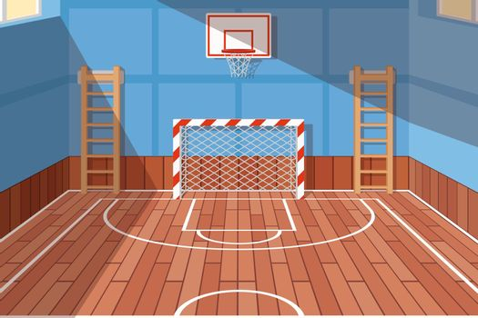 School or university gym hall