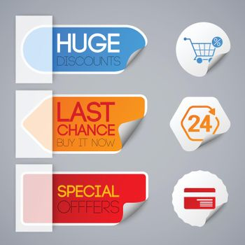 Sale And Retail Labels Set