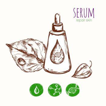 Serum Leaf Cosmetic Concept