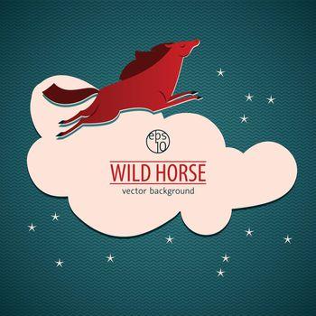 Red Wild Horse Emblem