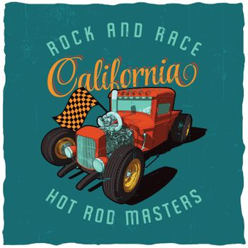 Rock And Race California Poster