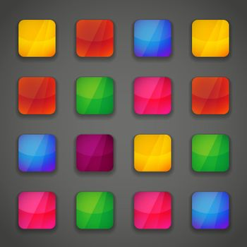 Set of colorful button icons