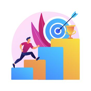 Ambition abstract concept vector illustration.