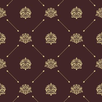 Seamless vintage pattern decor with element