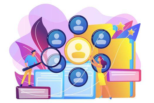 Human resources concept vector illustration.