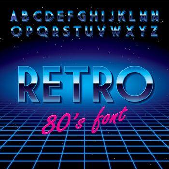 Retro Stylish Font Poster