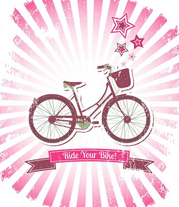 Ride your bike banner