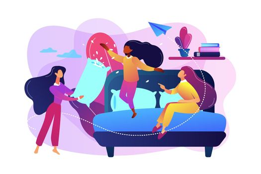 Pajama party concept vector illustration.