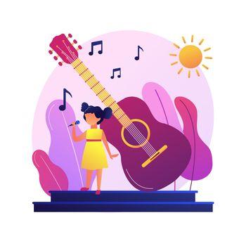 Popular singer in solo performance vector concept metaphor