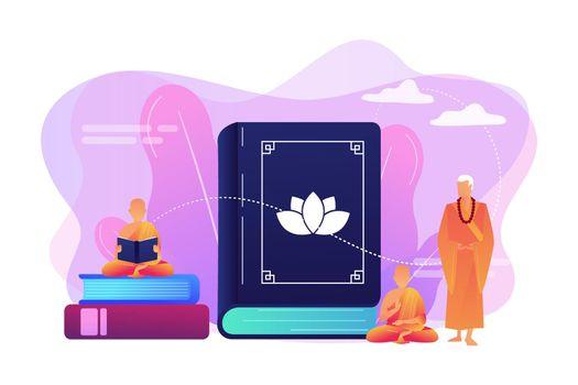 Buddhism concept vector illustration.