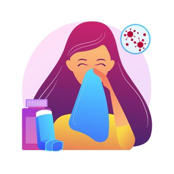 Allergic diseases abstract concept vector illustration.