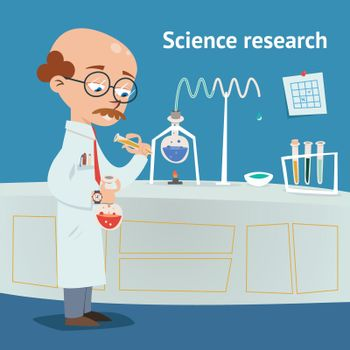 Scientist doing research in a laboratory