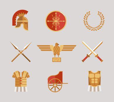 Set of ancient warrior accessories