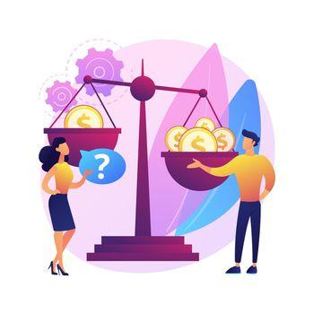 Gender discrimination abstract concept vector illustration.