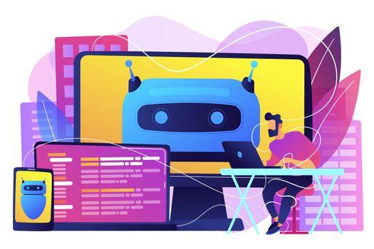 Digital wellbeing concept vector illustration.