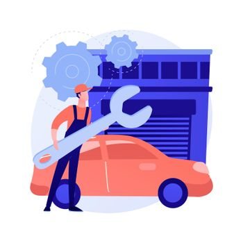 Auto detailing abstract concept vector illustration.