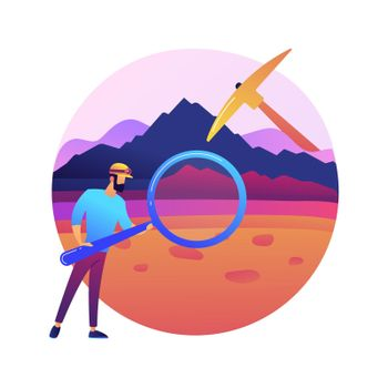 Geology abstract concept vector illustration.