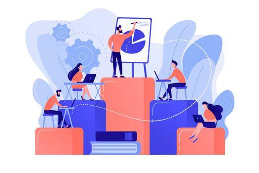 Internal education concept vector illustration.