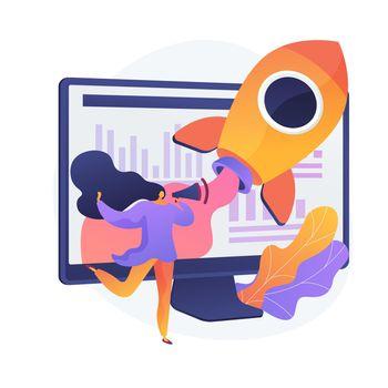 Business startup vector concept metaphor