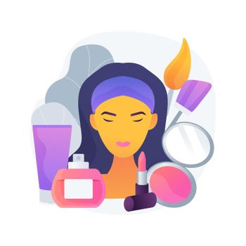 Cosmetology abstract concept vector illustration.