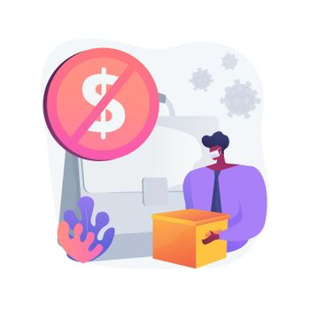 Unemployment abstract concept vector illustration.