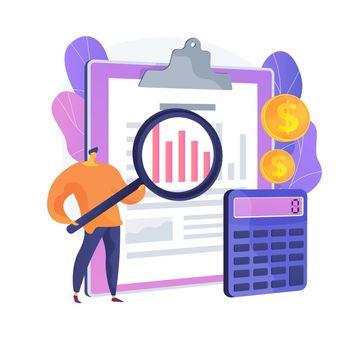 Audit service vector concept metaphor