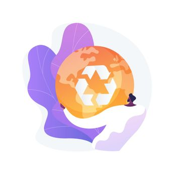 Reduce Reuse Recycle abstract concept vector illustration.