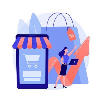 Consumer demand abstract concept vector illustration.