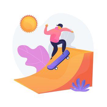 Extreme recreation vector concept metaphor