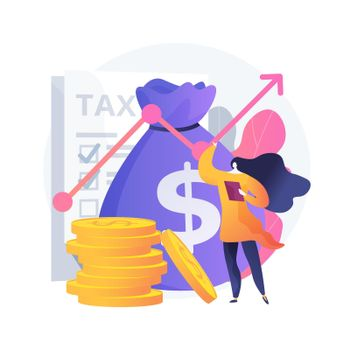 Taxable income abstract concept vector illustration.