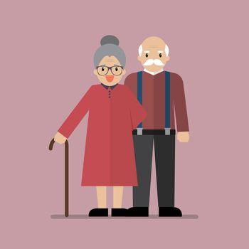 Elderly senior age couple
