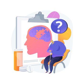 Alzheimer disease abstract concept vector illustration.