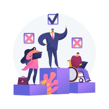 Workplace discrimination abstract concept vector illustration.