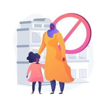Racial discrimination abstract concept vector illustration.