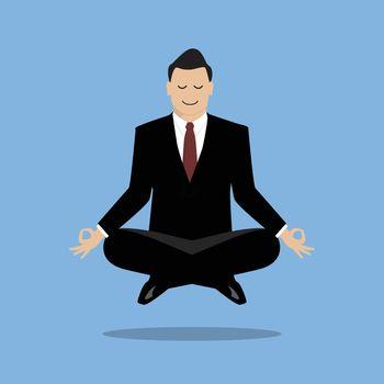 Businessman in meditation