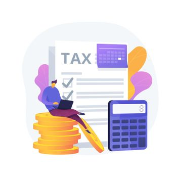 Monthly expense planning vector concept metaphor