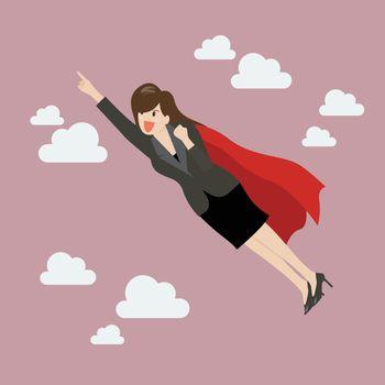Business woman super hero