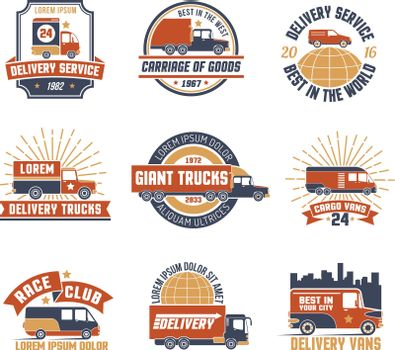 Delivery Logo Emblem Set
