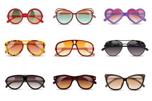 Sunglasses Realistic Set
