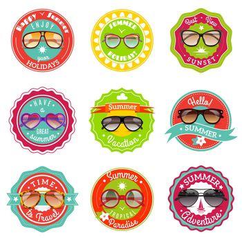 Sun glasses summer sale labels