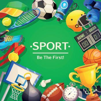 Sport Inventory Vector Illustration