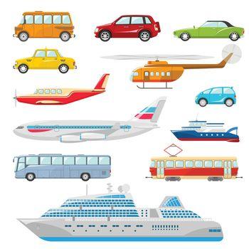 Transport Icons Flat